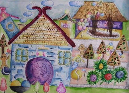 蛇年迎元宵简笔画 蛇年迎元宵图片欣赏 蛇年迎元宵儿童画画作品