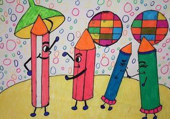 寒假学习美术啦简笔画 寒假学习美术啦图片欣赏 寒假学习美术啦儿童画画作品