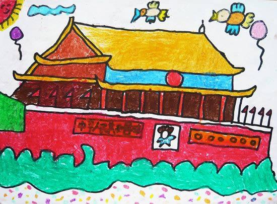 我爱祖国简笔画 我爱祖国图片欣赏 我爱祖国儿童画画作品图片