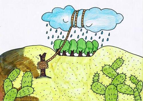 保护环境简笔画儿童画