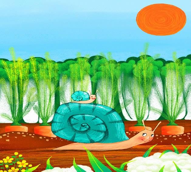 蜗牛妈妈与蜗牛宝宝简笔画