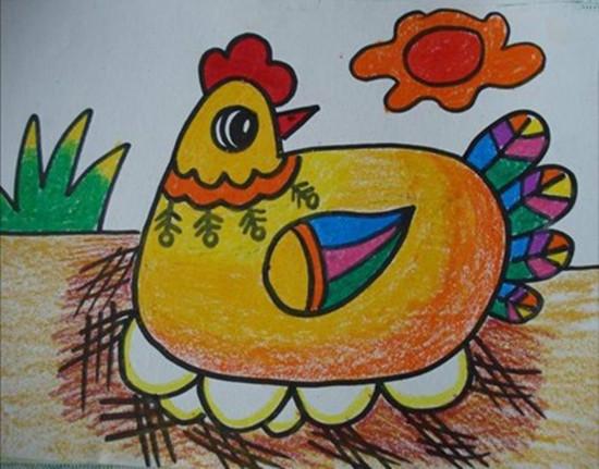 母鸡抱窝简笔画_母鸡抱窝图片欣赏