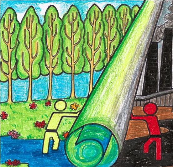 儿童画画 儿童版画 环保儿童画儿童画画