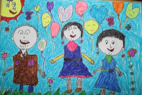 我的家人简笔画 我的家人图片欣赏 我的家人儿童画画作品