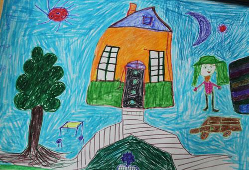 我美丽的家园简笔画_我美丽的家园图片欣赏