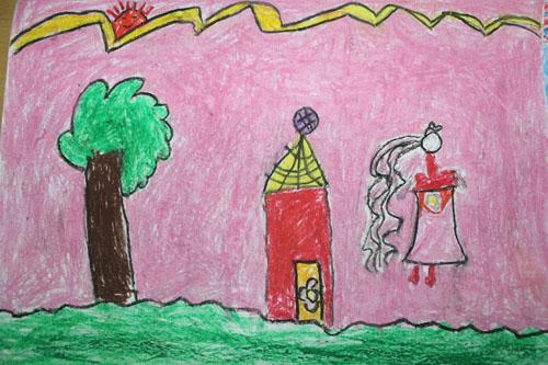 我的家简笔画 我的家图片欣赏 我的家儿童画画作品
