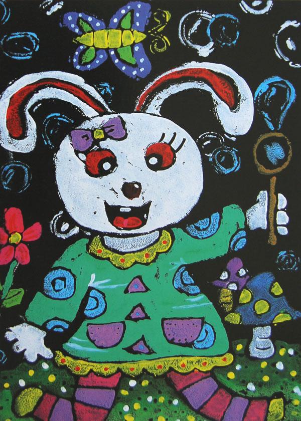 小白兔简笔画 小白兔图片欣赏 小白兔儿童画画作品