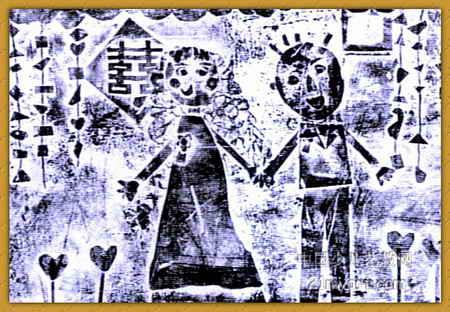 儿童画画 儿童版画 《结婚》儿童画画