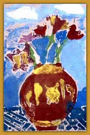 《红瓶白云》简笔画_《红瓶白云》图片欣赏