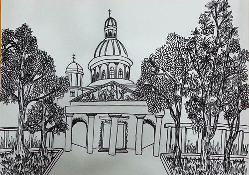 教堂简笔画 教堂图片欣赏 教堂儿童画画作品