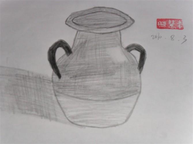 花瓶素描简笔画 花瓶素描图片欣赏 花瓶素描儿童画画作品