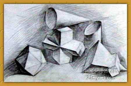 素描 作品 《几何形体》/素描/《几何形体》