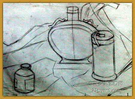 静物结构素描 简笔画 静物结构素描 图片欣赏 静物结构素描 儿童画画作