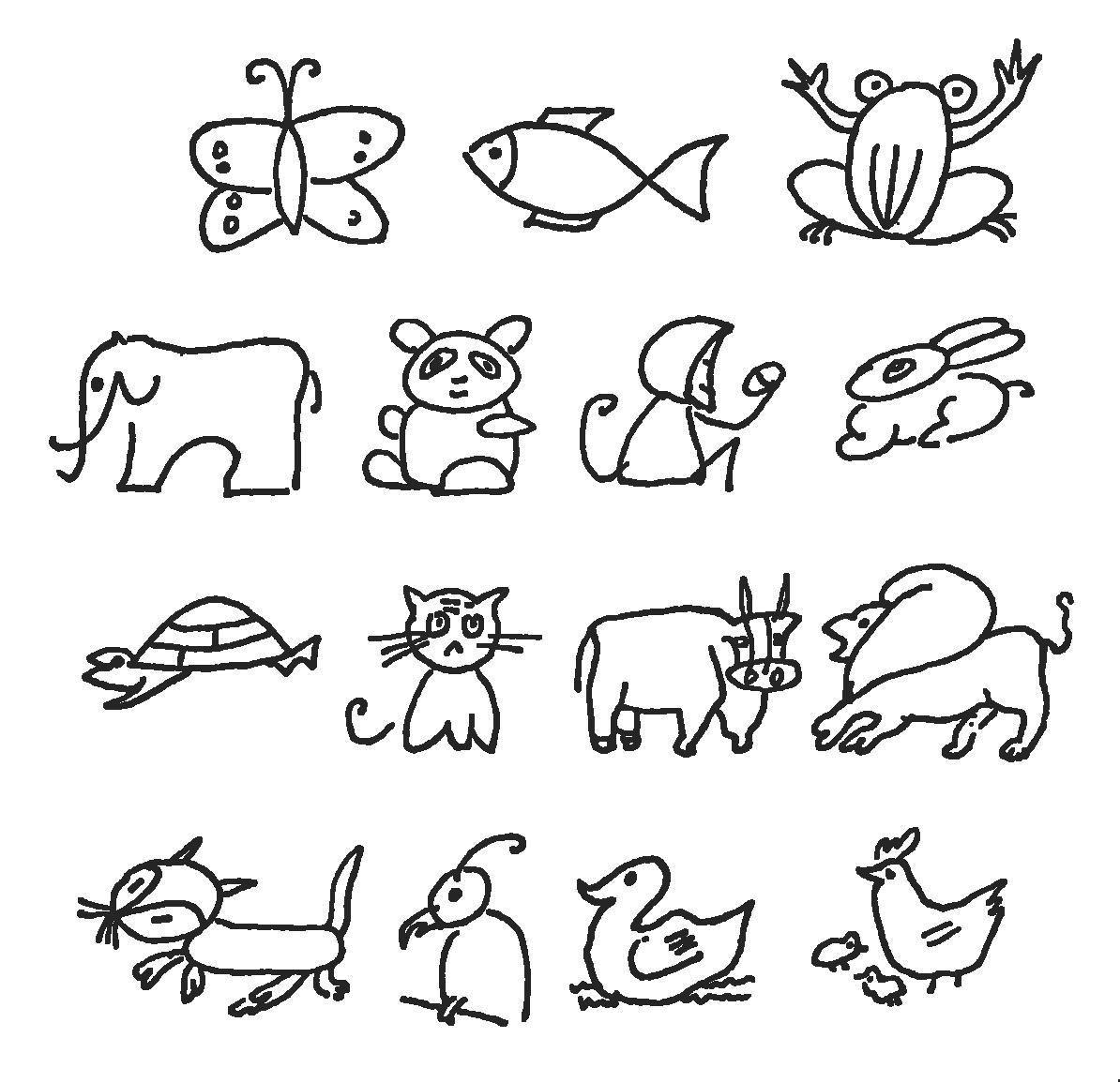 儿童简笔画简笔画 儿童简笔画图片欣赏 儿童简笔画儿童画画作品
