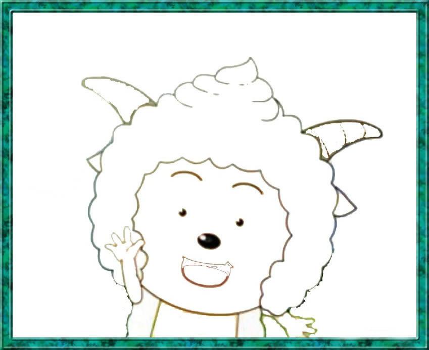 懒羊羊简笔画_懒羊羊图片欣赏_懒羊羊儿童画画作品-有