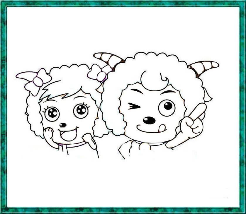 喜羊羊和美羊羊简笔画 喜羊羊和美羊羊图片欣赏 喜羊羊和美羊羊儿童