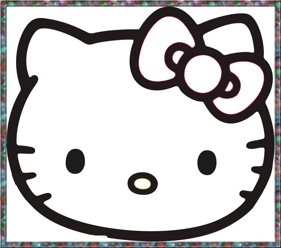 猫简笔画_kitty猫图片欣赏