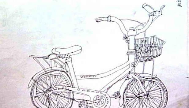 自行车简笔画_自行车图片欣赏_自行车儿童画画作品-有
