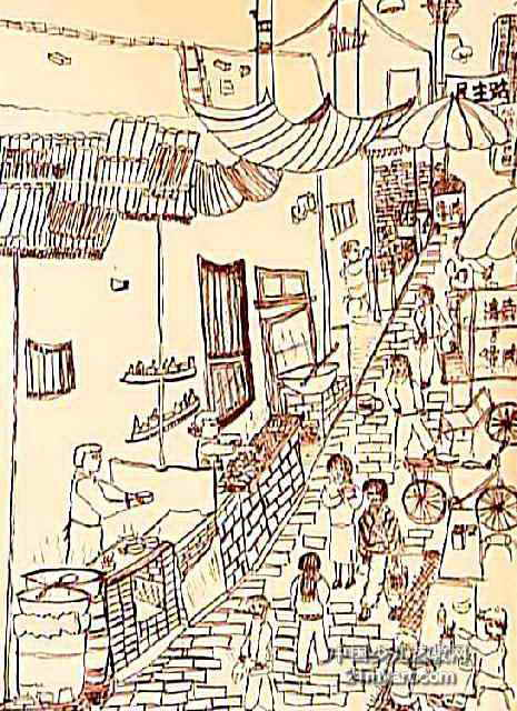 回族小吃一条街 简笔画 回族小吃一条街 图片欣赏 回族小吃一条街 儿童