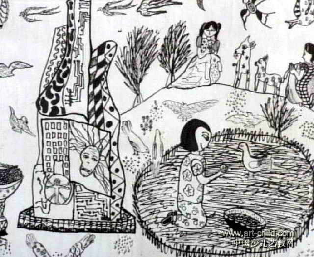 艺博园一角 简笔画 艺博园一角 图片欣赏 艺博园一角 儿童画画作品