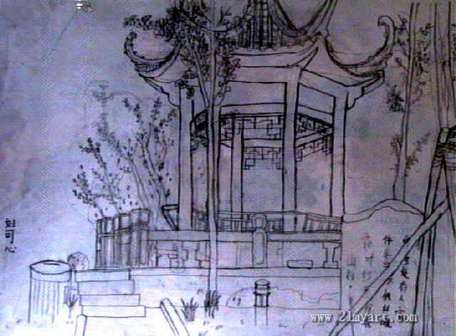 小亭子简笔画