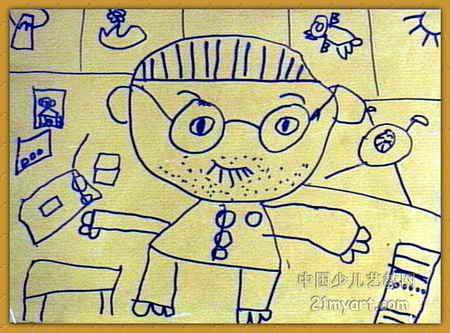 爸爸的小屋 简笔画 爸爸的小屋 图片欣赏 爸爸的小屋 儿童画画作品 -速
