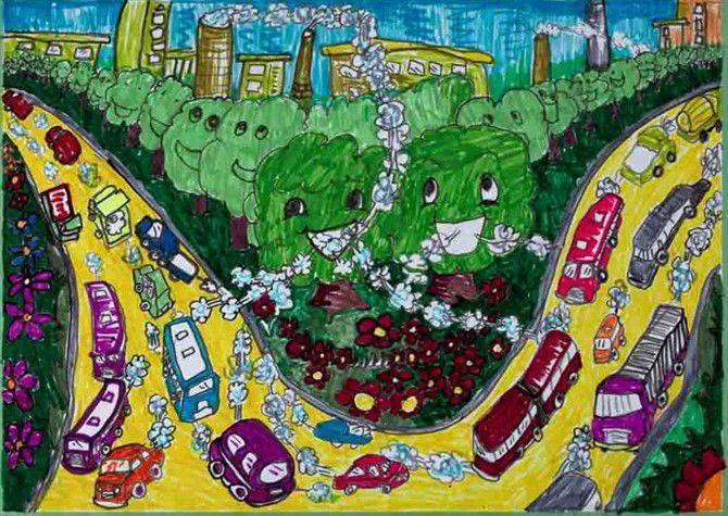 儿童画画 水彩画 森林家园儿童画画