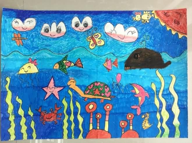 海底世界简笔画素材 第9张
