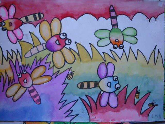 柳树风景画画图片欣赏