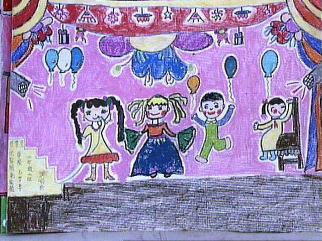 舞会简笔画_舞会图片欣赏_舞会儿童画画作品-有伴网
