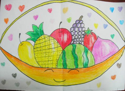 水果篮子简笔画 水果篮子简笔画的画法 水果篮子简笔画大全