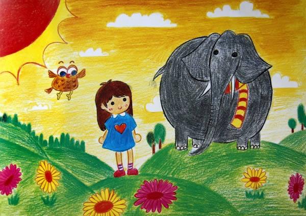 大象简笔画_大象图片欣赏