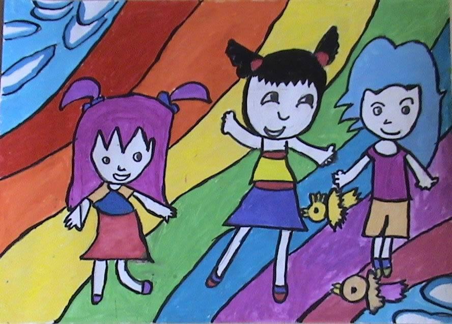新春的祝福简笔画 新春的祝福图片欣赏 新春的祝福儿童画画作品