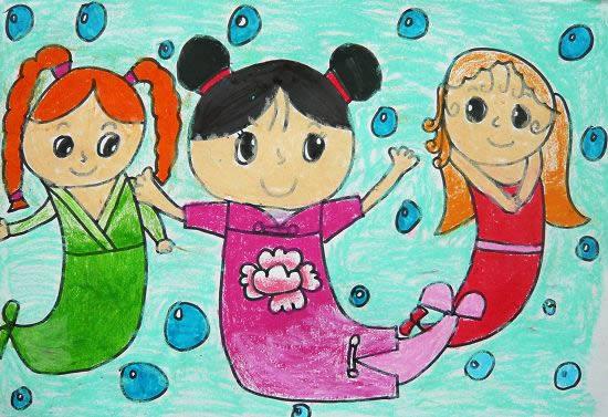 我们是美人鱼简笔画_我们是美人鱼图片欣赏