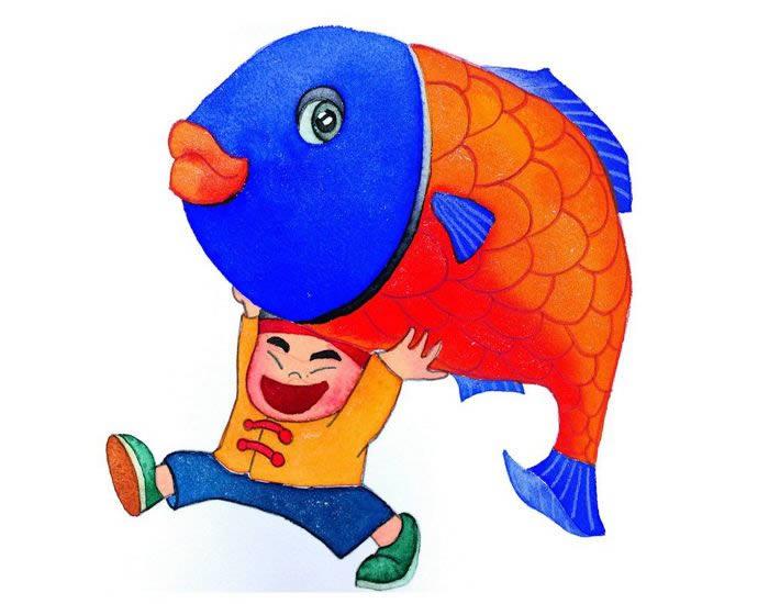 铅笔画年年有鱼-大家年年有余简笔画 大家年年有余图片欣赏 大家年年有余儿童画画作品