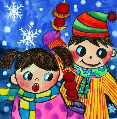 冬天来了简笔画_冬天来了图片欣赏_冬天来了儿童画画