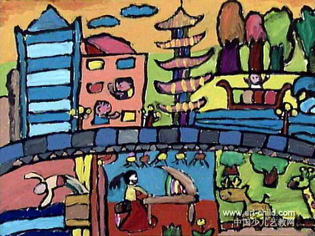 我的家园简笔画 我的家园图片欣赏 我的家园儿童画画作品