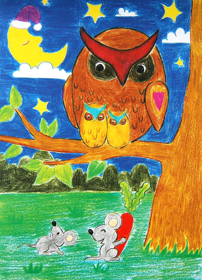 猫头鹰 简笔画 猫头鹰 图片欣赏 猫头鹰儿童 画 高清图片