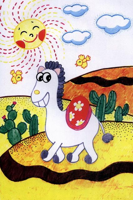 沙漠中的骆驼简笔画_沙漠中的骆驼图片欣赏