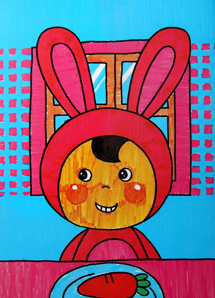 爱吃萝卜的好孩子简笔画 爱吃萝卜的好孩子图片欣赏 爱吃萝卜的好孩