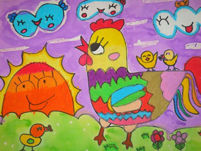 打鸣的大公鸡简笔画_打鸣的大公鸡图片欣赏