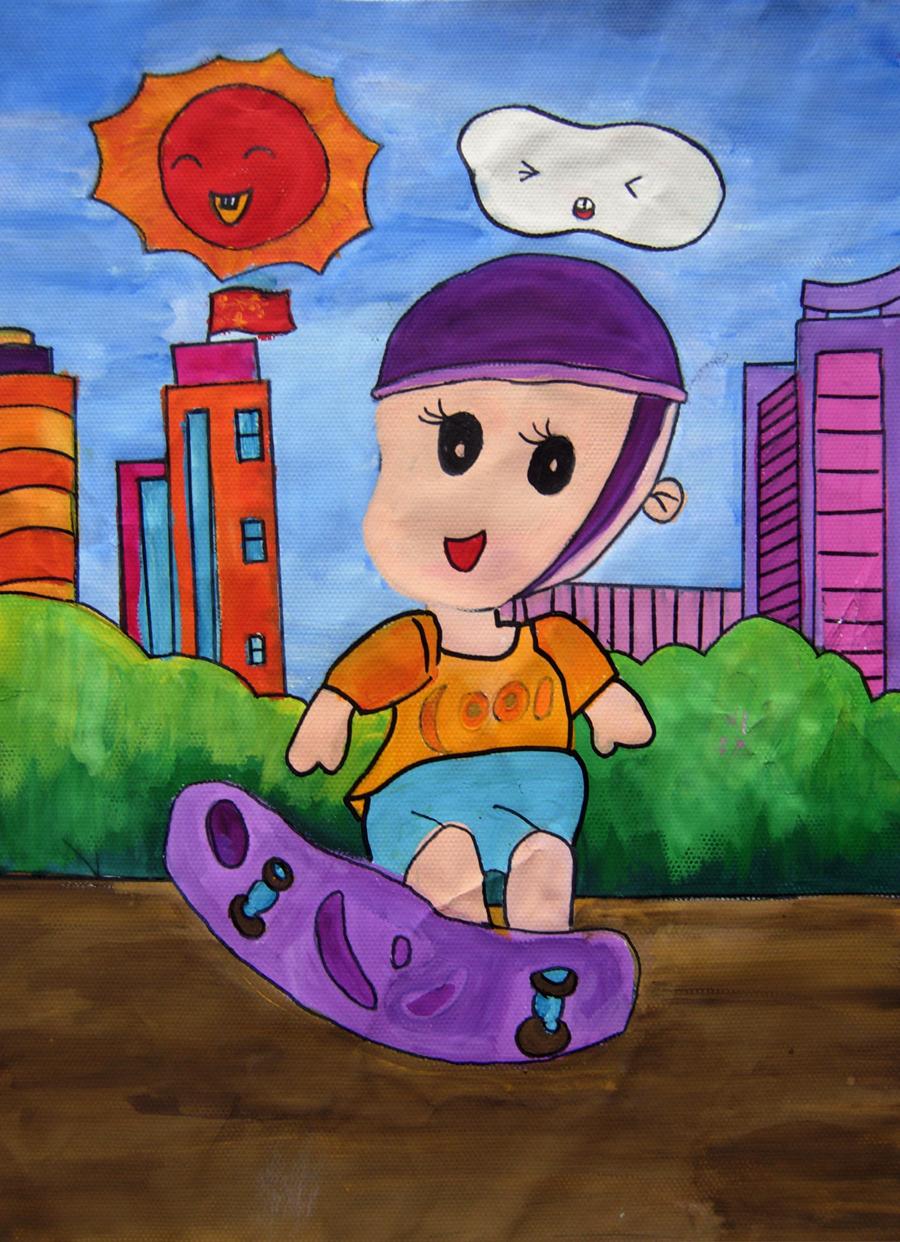 小恐龙简笔画 小恐龙图片欣赏 小恐龙儿童画画作品