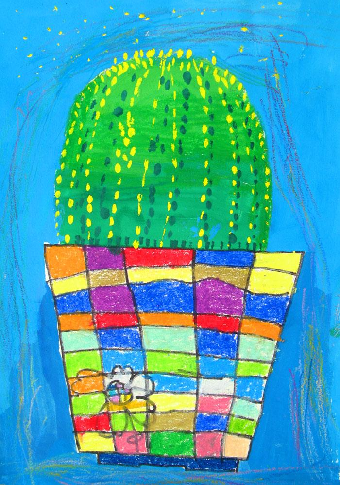 美丽的仙人掌 仙人掌的画法简笔画 美丽的仙人掌 仙人掌的画法图片欣