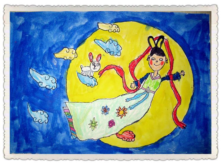 嫦娥奔月简笔画_嫦娥奔月图片欣赏-汉堡套餐简笔画 汉堡套餐图片欣赏