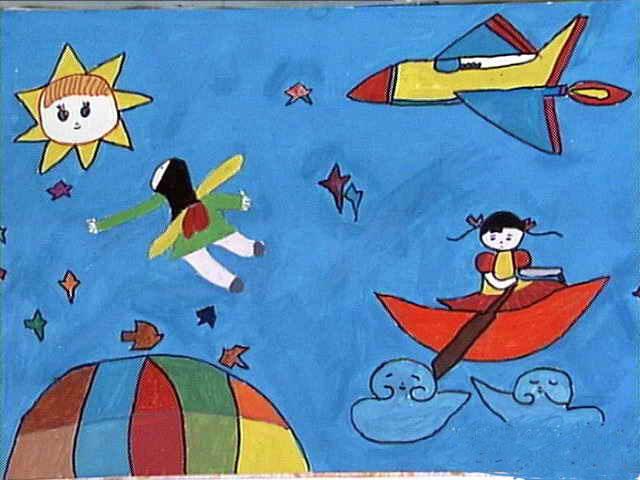 宇宙简笔画 宇宙图片欣赏 宇宙儿童画画作品