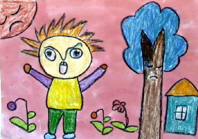 新年快乐简笔画 新年快乐图片欣赏 新年快乐儿童画画作品