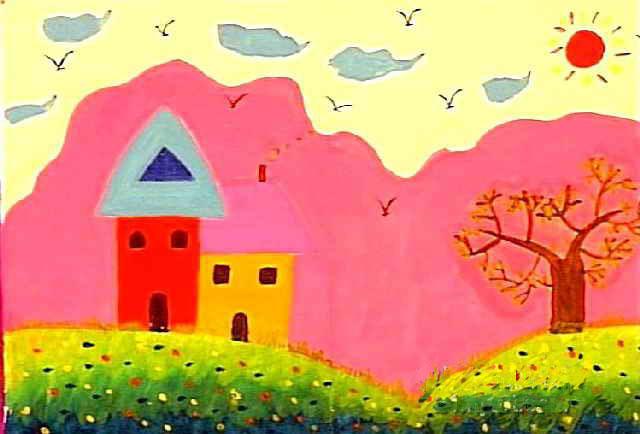 家简笔画_家图片欣赏_家儿童画画作品-有伴网