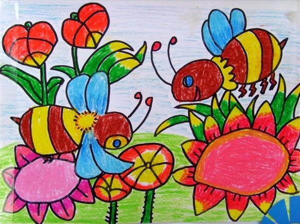 小蜜蜂儿童画简笔画_小白兔儿童画简笔画