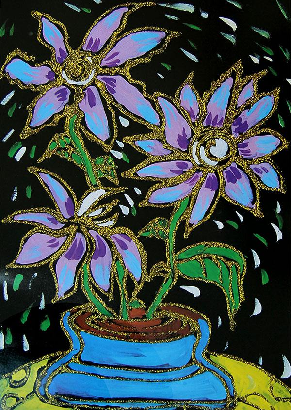 超轻粘土手工制作 漂亮的百合花