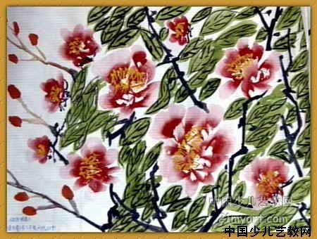 牡丹简笔画_牡丹图片欣赏_牡丹儿童画画作品-有伴网